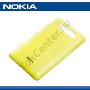 Nokia Lumia 820 Műanyag telefonvédő (akkufedél) SÁRGA
