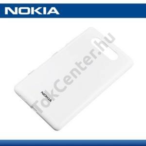 Nokia Lumia 820 Műanyag telefonvédő (akkufedél) FEHÉR