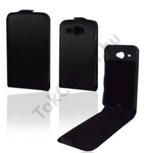 HTC ChaCha (A810e) Tok álló, bőr (FLIP, REJTETT mágneses) FEKETE