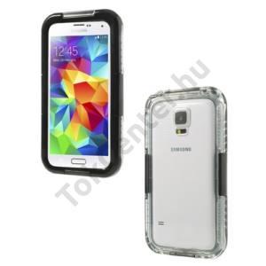 Samsung Galaxy S V. (SM-G900) Vízhatlan/vízálló tok, AQUA (nyakba akasztható) FEKETE