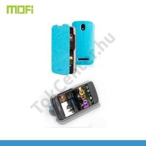 HTC Desire 500 MOFI RUI tok álló, bőr (FLIP, oldalra nyíló, asztali tartó funkció) VILÁGOSKÉK