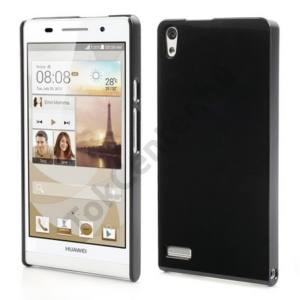 Huawei Ascend P6 (P6-U06) Műanyag telefonvédő FÉNYES FEKETE