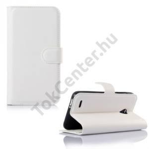 Vodafone Smart Prime 6 Tok álló, bőr (FLIP, mágneses, oldalra nyíló, asztali tartó funkció) FEHÉR