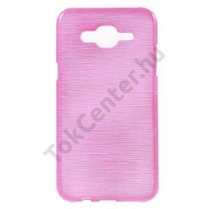 Samsung Galaxy J5 (SM-J500) Telefonvédő gumi / szilikon (szálcsiszolt mintázat) MAGENTA