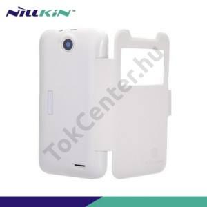 HTC Desire 310 NILLKIN FRESH műanyag telefonvédő (bőr flip, mágneses, oldalra nyíló, hívószámkijelzés, S-View Cover) FEHÉR