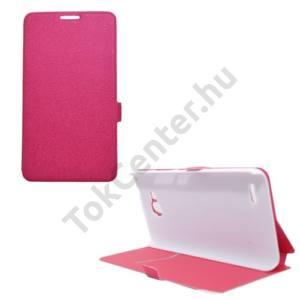 Huawei Ascend G750 Tok álló, bőr (FLIP, mágneses, oldalra nyíló, bankkártya tartó, asztali tartó funkció) MAGENTA