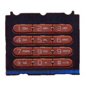 Ericsson W580i Készülék billentyűzet (számgomb rész)  FEKETE/NARANCS