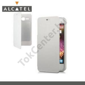 Alcatel Star (OT-6010D) Műanyag telefonvédő (oldalra nyíló, NANOPAD szerű készülék rögzítés) FLIP, FEHÉR