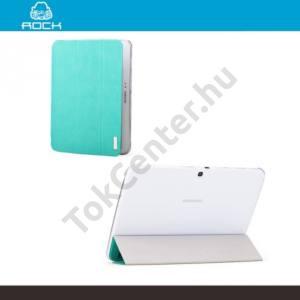 Samsung Galaxy Tab3 10.1 (P5200) ROCK ELEGANT műanyag telefonvédő (bőr flip, oldalra nyíló, asztali tartó funkció) VILÁGOSKÉK