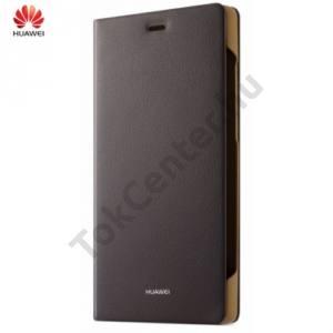 Huawei P8 Tok álló, bőr (FLIP, oldalra nyíló) SÖTÉTBARNA