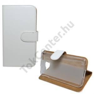 Alcatel Idol 4s (OT-6070) Tok álló, bőr (FLIP, oldalra nyíló, asztali tartó funkció) FEHÉR