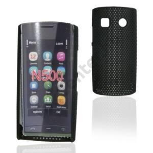 Nokia 500  Műanyag telefonvédő lyukacsos FEKETE