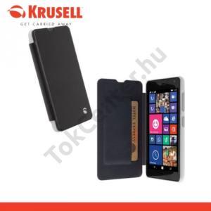 Microsoft Lumia 535 KRUSELL FlipCover BODEN műanyag telefonvédő (FLIP, átlátszó hátlap, oldalra nyíló) FEKETE