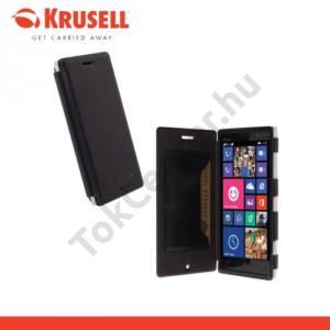 Nokia Lumia 830 KRUSELL FlipCase KIRUNA műanyag telefonvédő (mágneses, oldalra nyíló bőr flip, bankkártya tartó) FEKETE