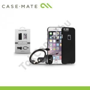 Apple iPhone 6 4.7`` CASE-MATE Kezdőcsomag (műanyag telefonvédő BARELY THERE FEKETE, képernyővédő fólia, USB adapter és kábel)
