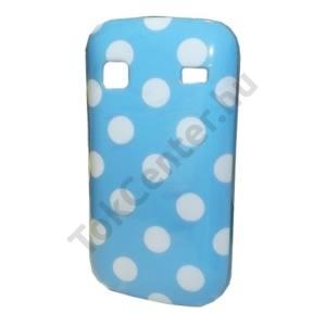 Samsung Galaxy Gio (GT-S5660) Telefonvédő gumi / szilikon (fehér pöttyös) KÉK
