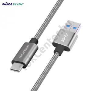 NILLKIN adatátvitel adatkábel és töltő (USB Type-C, 1m, cipőfűző minta) SZÜRKE