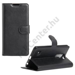 LG Stylus 2 (F720) Tok álló, bőr (FLIP, oldalra nyíló, asztali tartó funkció) FEKETE
