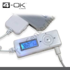 Apple iPhone 3G K-OK audió adapter (FM vevő, LCD kijelzővel,) FEHÉR