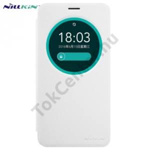 Asus ZenFone Go ZB551KL NILLKIN SPARKLE műanyag telefonvédő (mikroszálas bőr flip, oldalra nyíló, S-View Cover) FEHÉR