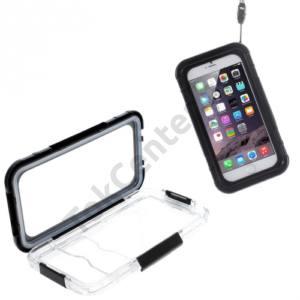Apple iPhone 6 Plus 5.5`` Vízhatlan/vízálló tok, AQUA (kitámasztó, csuklópánt) FEKETE