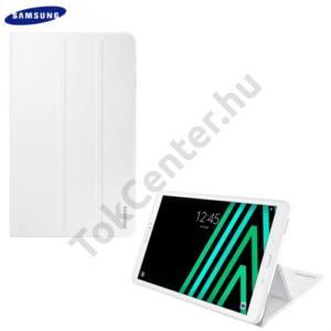 Samsung Galaxy Tab A 10.1 LTE / WIFI Műanyag telefonvédő (FLIP, asztali tartó funkció) FEHÉR