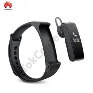 BLUETOOTH csuklópánt (aktivitást mérő karkötő, cseppálló, 2 különböző csuklópánt, USB töltőkábel) BLACK