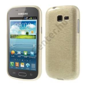 Samsung Galaxy Trend II (GT-S7570) Telefonvédő gumi / szilikon (szálcsiszolt mintázat) ARANY