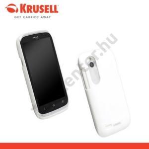 HTC Desire V (T328W) KRUSELL ColorCover műanyag telefonvédő METÁLFEHÉR
