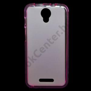 Alcatel Pixi 4 (5) (OT-5010) Telefonvédő gumi / szilikon (fényes keret) RÓZSASZÍN