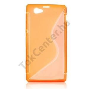 Sony Xperia Z1 Compact (D5503) Telefonvédő gumi / szilikon (S-line, microUSB-nél kivágás NÉLKÜL!) NARANCS