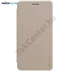 Huawei Y6 II (Y6-2) NILLKIN SPARKLE műanyag telefonvédő (mikroszálas bőr flip, oldalra nyíló) ARANY