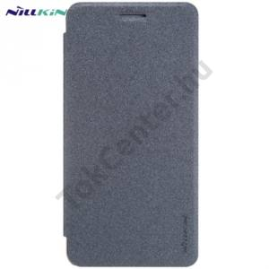 Huawei Y6 II (Y6-2) NILLKIN SPARKLE műanyag telefonvédő (mikroszálas bőr flip, oldalra nyíló) FEKETE