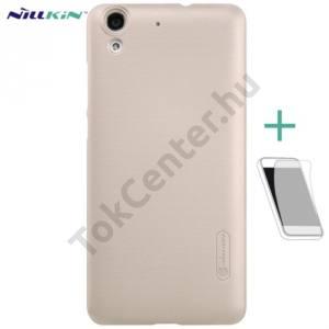 Huawei Y6 II (Y6-2) NILLKIN SUPER FROSTED műanyag telefonvédő (gumírozott, érdes felület, képernyővédő fólia, tisztítókendő) ARANY