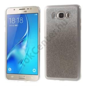 Samsung Galaxy J5 (2016) (SM-J510) Telefonvédő gumi / szilikon (csillámporos, színátmenet) FEHÉR/SZÜRKE