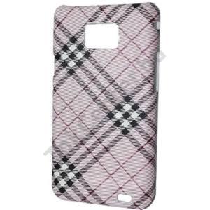 Samsung Galaxy S II. (GT-I9100) Műanyag telefonvédő (kockás) RÓZSASZÍN