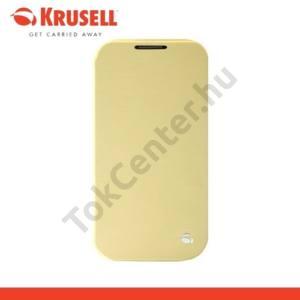 Samsung Galaxy S V. (SM-G900) KRUSELL FlipCover BODEN műanyag telefonvédő (átlátszó hátlap, oldalra nyíló bőr flip) SÁRGA