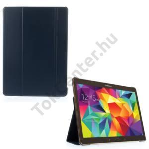 Samsung Galaxy Tab S 10.5 LTE (SM-T805) Tok álló, bőr (FLIP,  oldalra nyíló, TRIFOLD asztali tartó funkció) KÉK