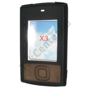 Nokia X3 Telefonvédő gumi / szilikon FEKETE