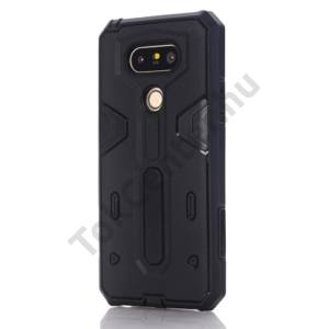 LG G5 (H850) Defender műanyag telefonvédő (közepesen ütésálló, gumi / szilikon belső) FEKETE
