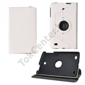 LG G Pad 8.0 (V480) Tok álló, bőr (FLIP, asztali tartó funkció, 360°-ban forgatható) FEHÉR