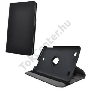 LG G Pad 8.0 (V480) Tok álló, bőr (FLIP, asztali tartó funkció, 360°-ban forgatható) FEKETE