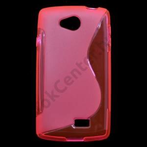 LG F60 (D390N) Telefonvédő gumi / szilikon (S-line) MAGENTA