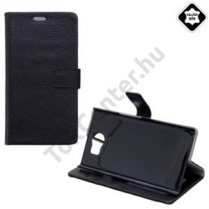 BlackBerry Priv Tok álló,valódi bőr (FLIP, oldalra nyíló, asztali tartó funkció) FEKETE
