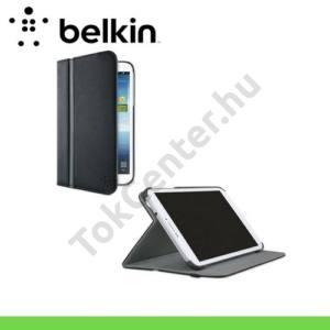 Samsung Galaxy Tab Pro 8.4 3G (SM-T321) BELKIN STRIPE COVER tok álló, bőr (FLIP, asztali tartó funkció, állítható dőlésszög) FEKETE