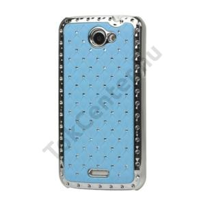 HTC One X (S720e) Műanyag telefonvédő (strasszkő) VILÁGOS KÉK