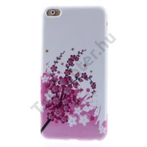 Apple iPhone 6 Plus 5.5`` Telefonvédő gumi / szilikon (virágminta) FEHÉR