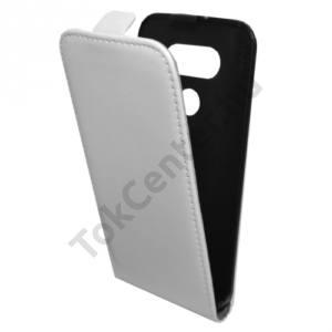 LG G5 (H850) Tok álló, bőr (FLIP, mágneses) FEHÉR