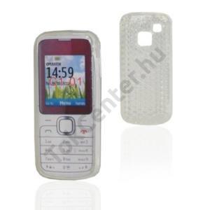 Nokia C1-01 Telefonvédő gumi / szilikon (gyémántmintás) ÁTLÁTSZÓ