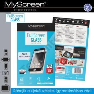 Apple iPhone 6 Plus 5.5`` / 6S Plus 5.5`` Képernyővédő fólia (1 db-os, 3D full cover, íves, ultravékony előlap, edzett üveg, karcálló, 0.33 mm, 9H) FEKETE